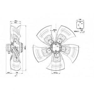 Осевой вентилятор A6E630AP0301 A6E630-AP03-01