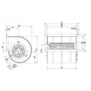 Центробежный вентилятор D1G133DC1717 D1G133-DC17-17
