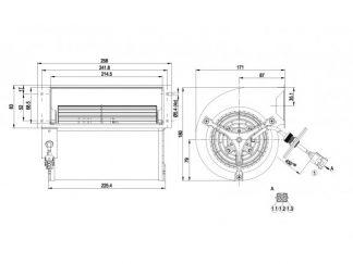 Центробежный вентилятор D2D133AB0619 D2D133-AB06-19