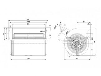 Центробежный вентилятор D2D133AB0631 D2D133-AB06-31