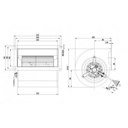 Центробежный вентилятор D2D146AA2423 D2D146-AA24-23