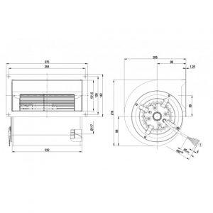 Центробежный вентилятор D2D146AA2425 D2D146-AA24-25