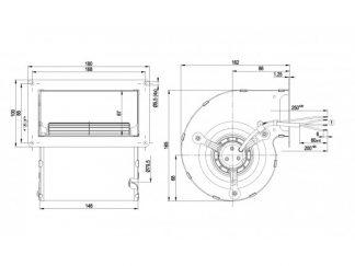 Центробежный вентилятор D2E097BE0165 D2E097-BE01-65