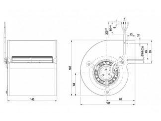 Центробежный вентилятор D2E097BI5602 D2E097-BI56-02