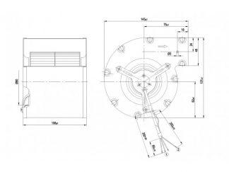 Вентилятор D2E097CB0102  D2E097-CB01-02