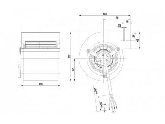 Центробежный вентилятор D2E097CH8502 D2E097-CH85-02