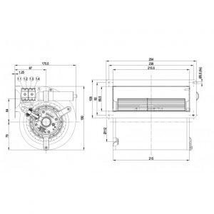 Вентилятор D2E133AB0150  D2E133-AB01-50