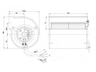 Центробежный вентилятор D2E133AM4701 D2E133-AM47-01