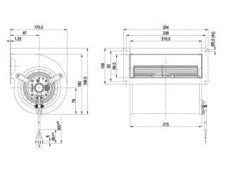 Центробежный вентилятор D2E133AM4723 D2E133-AM47-23