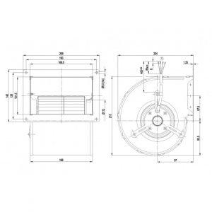 Центробежный вентилятор D2E133CI3322 D2E133-CI33-22