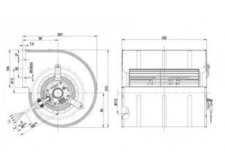 Центробежный вентилятор D2E133DM5260 D2E133-DM52-60