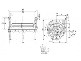 Центробежный вентилятор D2E133LM3401 D2E133-LM34-01