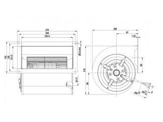 Центробежный вентилятор D2E146AA0343 D2E146-AA03-43