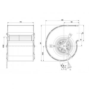 Центробежный вентилятор D2E146CD5109 D2E146-CD51-09