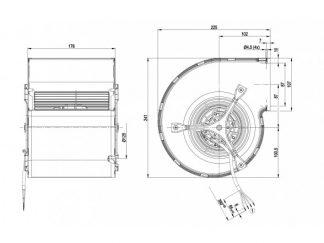 Центробежный вентилятор D2E146CD5123 D2E146-CD51-23