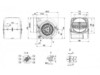 Центробежный вентилятор D2E146HS9703 D2E146-HS97-03
