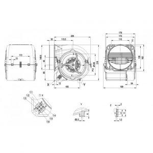 Центробежный вентилятор D2E146HT6702 D2E146-HT67-02