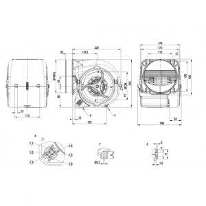 Центробежный вентилятор D2E146HT6731 D2E146-HT67-31