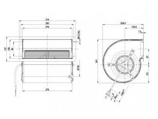Центробежный вентилятор D2E160AB0121 D2E160-AB01-21