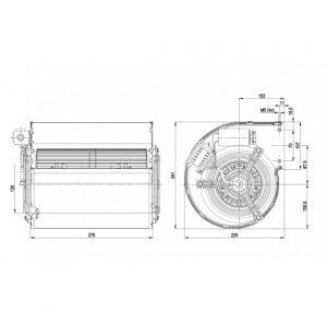 Центробежный вентилятор D2E160AH0215 D2E160-AH02-15
