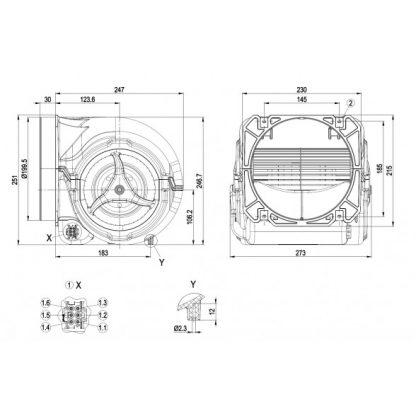 Центробежный вентилятор D2E160GL0701 D2E160-GL07-01