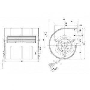 Центробежный вентилятор D3G133DD6713 D3G133-DD67-13