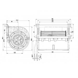 Центробежный вентилятор D3G133LU0101 D3G133-LU01-01