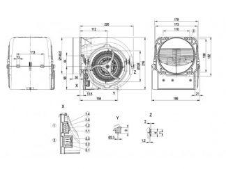 Центробежный вентилятор D3G146HQ1362 D3G146-HQ13-62