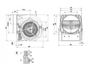 Центробежный вентилятор D3G146HS0533 D3G146-HS05-33
