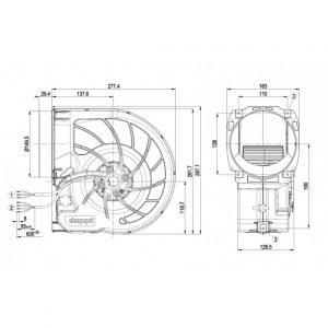 Центробежный вентилятор D3G160FQ1705 D3G160-FQ17-05