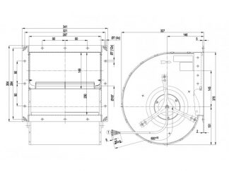 Центробежный вентилятор D4D200CA0102 D4D200-CA01-02