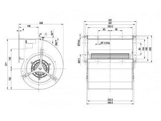 Центробежный вентилятор D4D225FH0201 D4D225-FH02-01