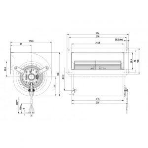 Центробежный вентилятор D4E133AH0158 D4E133-AH01-58