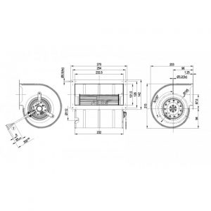 Центробежный вентилятор D4E133DL01J5 D4E133-DL01-J5