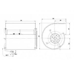 Центробежный вентилятор D4E160FH1205 D4E160-FH12-05