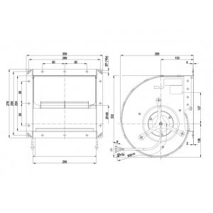 Центробежный вентилятор D4E180CA0202 D4E180-CA02-02
