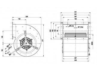 Центробежный вентилятор D4E240BA0101 D4E240-BA01-01