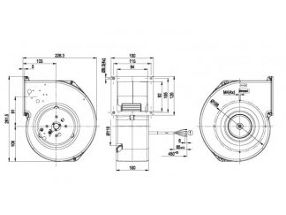 Центробежный вентилятор G1G140AV1702 G1G140-AV17-02