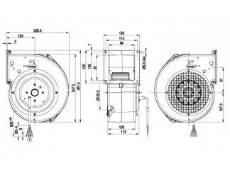 Центробежный вентилятор G2D146BF0207 G2D146-BF02-07