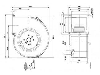 Центробежный вентилятор G2D160AF0201 G2D160-AF02-01