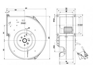 Центробежный вентилятор G2D180AE0201 G2D180-AE02-01