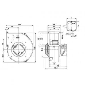 Центробежный вентилятор G2D180AE0226 G2D180-AE02-26