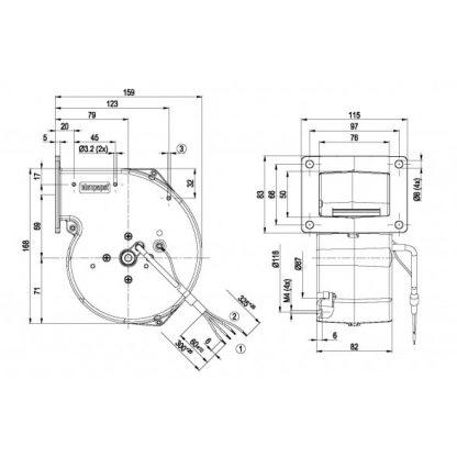 Центробежный вентилятор G2E108AA0101 G2E108-AA01-01
