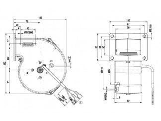Центробежный вентилятор G2E108AA0177 G2E108-AA01-77