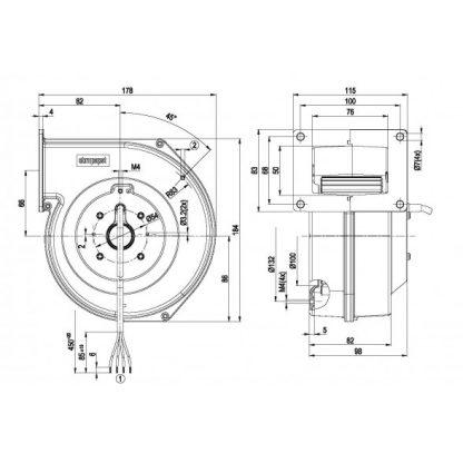 Центробежный вентилятор G2E120AR7701 G2E120-AR77-01