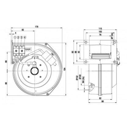 Центробежный вентилятор G2E120AR77A6 G2E120-AR77-A6