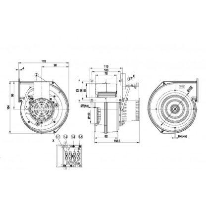 Центробежный вентилятор G2E120DD7012 G2E120-DD70-12