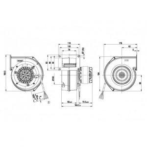 Центробежный вентилятор G2E120DO1627 G2E120-DO16-27