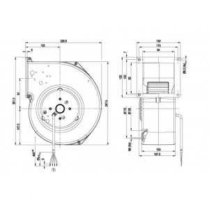 Центробежный вентилятор G2E160AY4701 G2E160-AY47-01