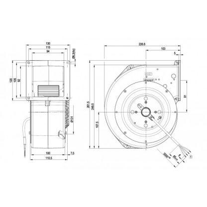 Центробежный вентилятор G2E160BY4721 G2E160-BY47-21